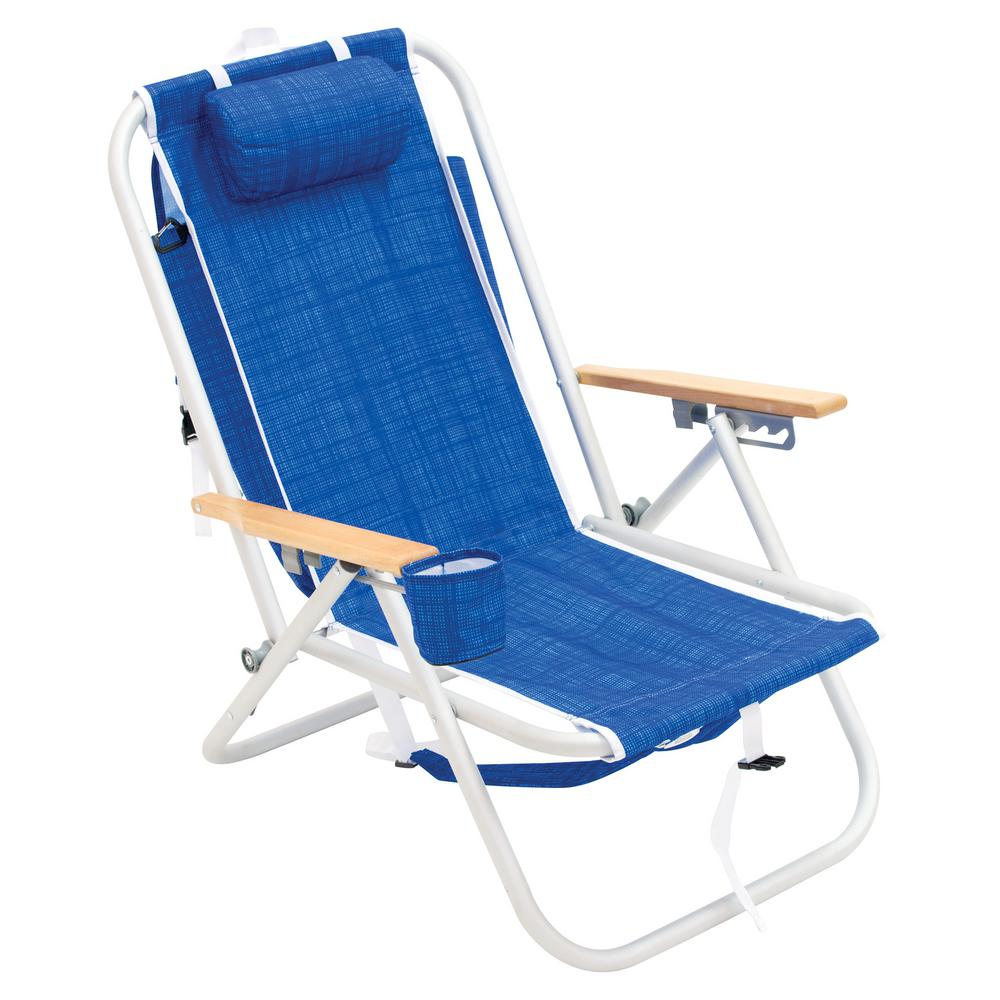 Portable Beach Chair Rio 4 Position Aluminum Backpack Beach Chair