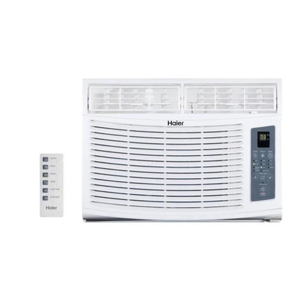 Lg Electronics 7 500 Btu 115-volt Window Air Conditioner With Cool Heat And Remote-lw8015hr
