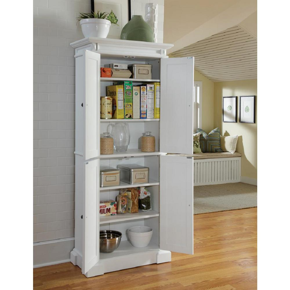 Home Styles Americana Pantry In White 5004 692 The Home Depot