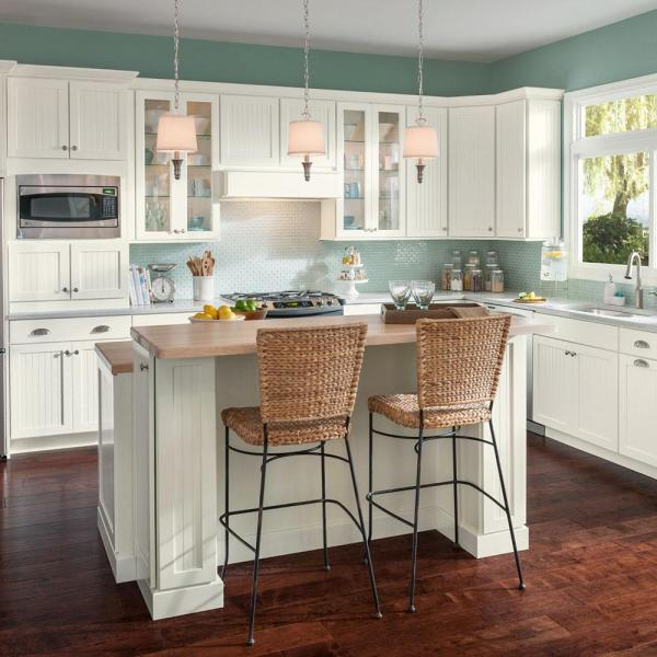 american woodmark kitchen cabinets American Woodmark Custom Kitchen Cabinets Shown in Cottage