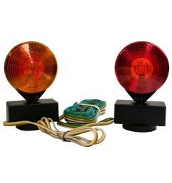blazer international 2 sided amber red magnetic towing light kit [ 1000 x 1000 Pixel ]