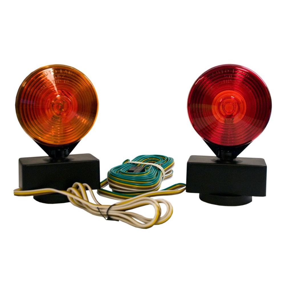 hight resolution of blazer international 2 sided amber red magnetic towing light kit