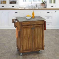Oak Kitchen Cart Green Furniture Home Styles Cuisine Warm With Concrete Top 9001 0611 The Depot