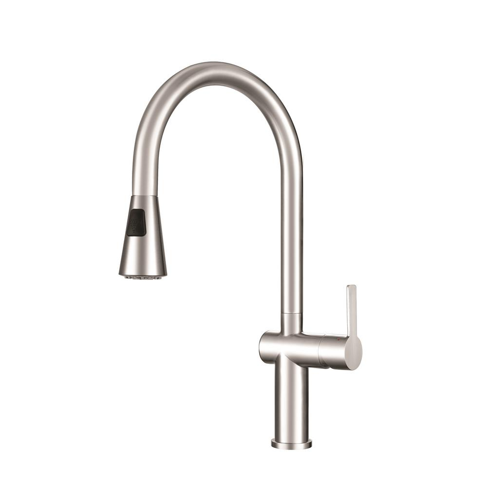 franke kitchen faucet picture faucets the home depot bern single handle pull down sprayer with fast in quick install