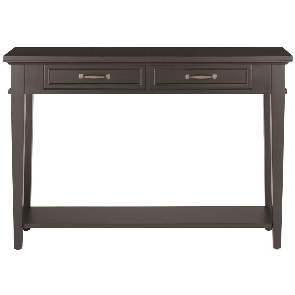 Home Decorators Collection Martin Black Storage Console Table