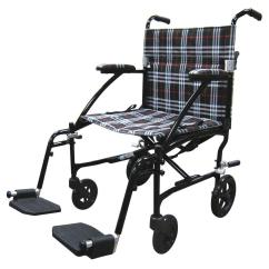 Transport Wheel Chair How To Make Cushions Drive Fly Lite Ultra Lightweight Plaid Wheelchair Dfl19