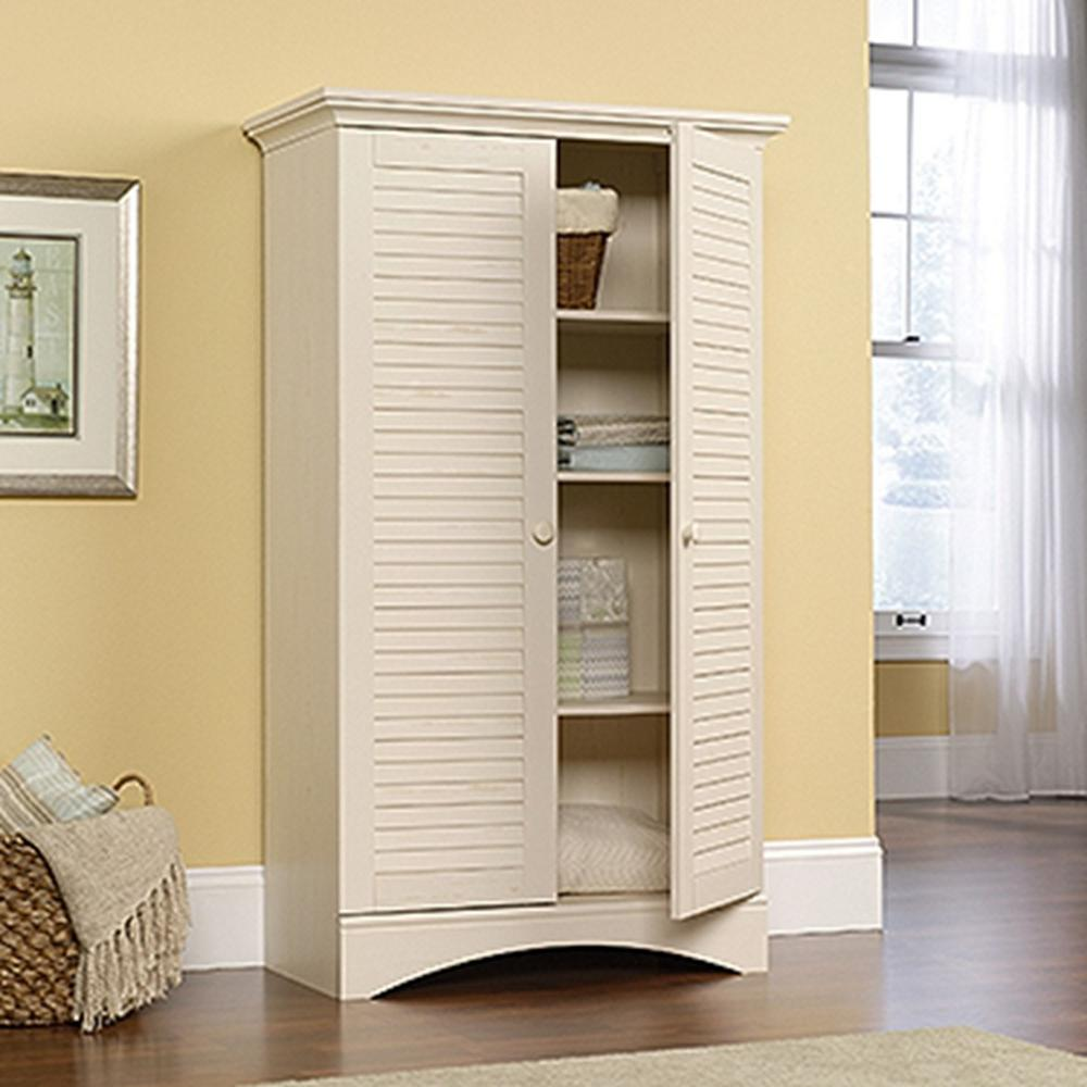home depot kitchen storage cabinets modular wall sauder harbor view antiqued cabinet 400742 the
