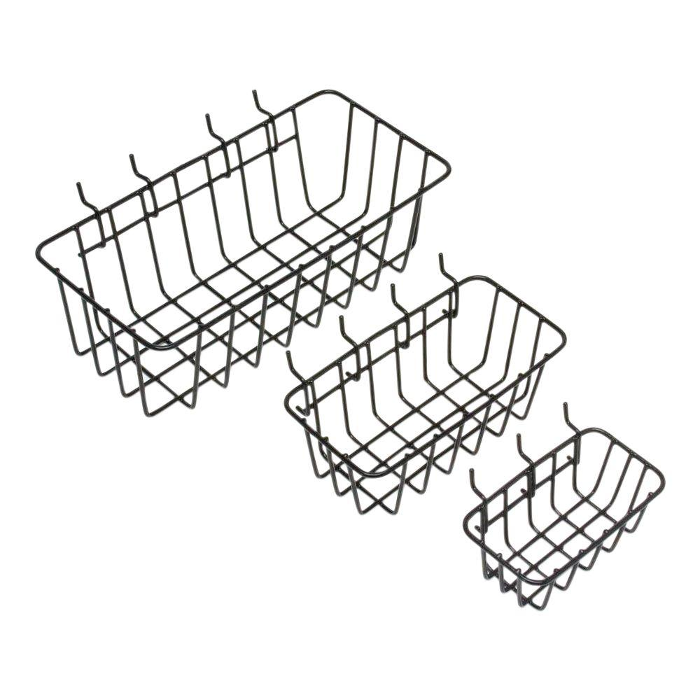 Everbilt 1/8 in. Peggable Wire Baskets (3-Pack)-17960