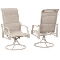 Sling Chair Outdoor Triple Papasan Hampton Bay Statesville Shell Swivel Aluminum Dining 2 Pack