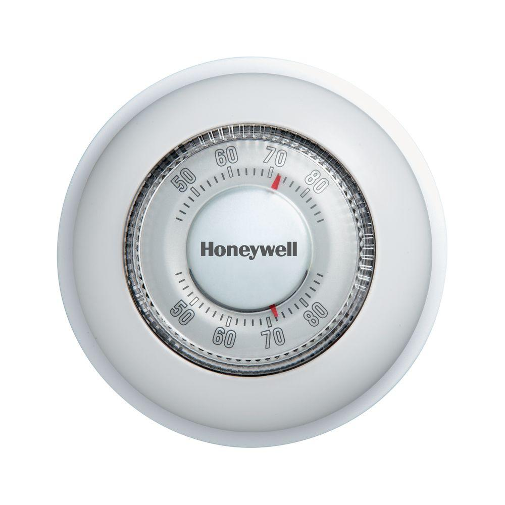 hight resolution of honeywell round mechanical thermostat heat only