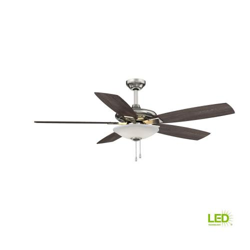 small resolution of hampton bay menage 52 in integrated led indoor low profile brushed nickel ceiling fan with