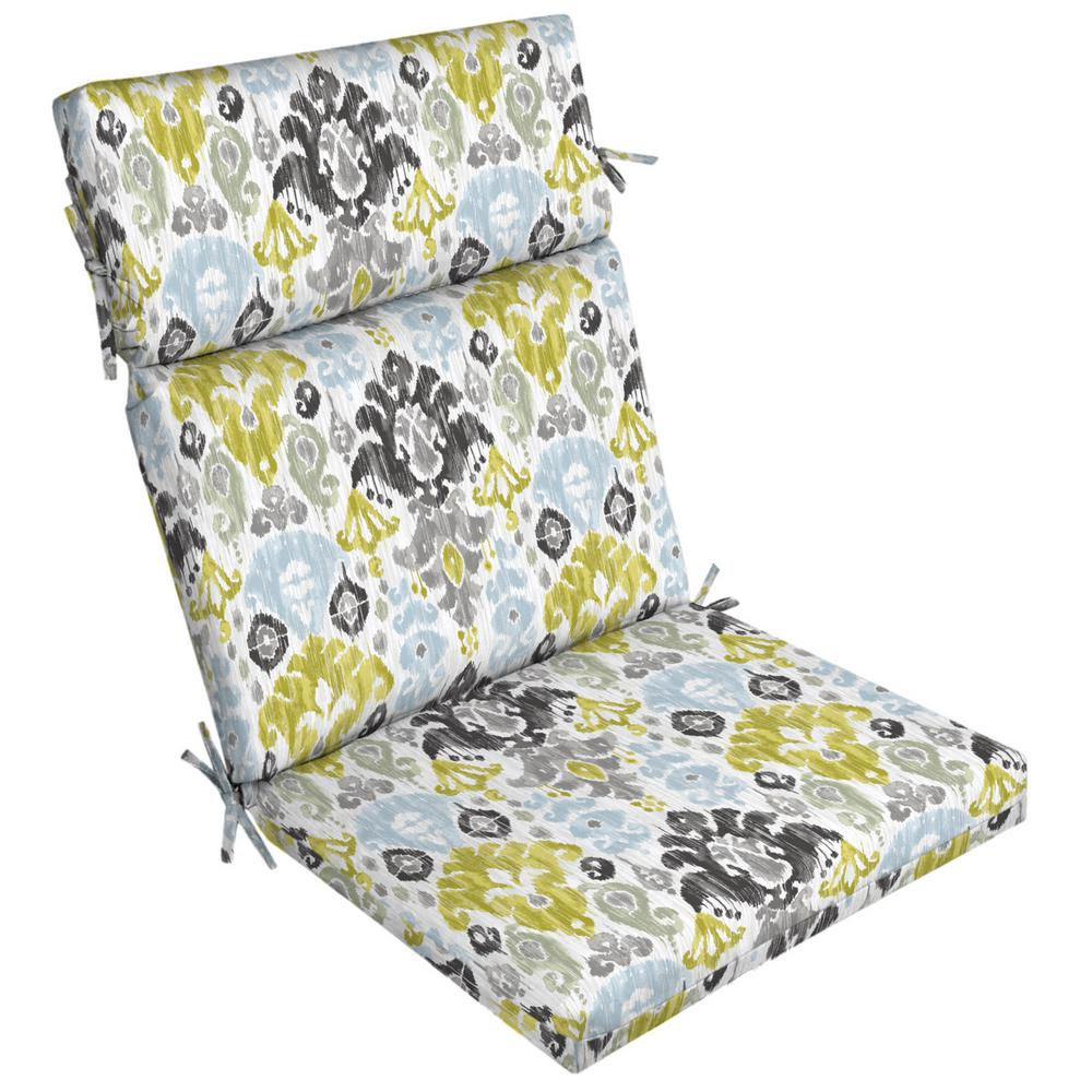 jordan manufacturing outdoor patio wrought iron chair cushion fishing hand wheel arden selections 21 x 20 aquamarine kenda ikat dining
