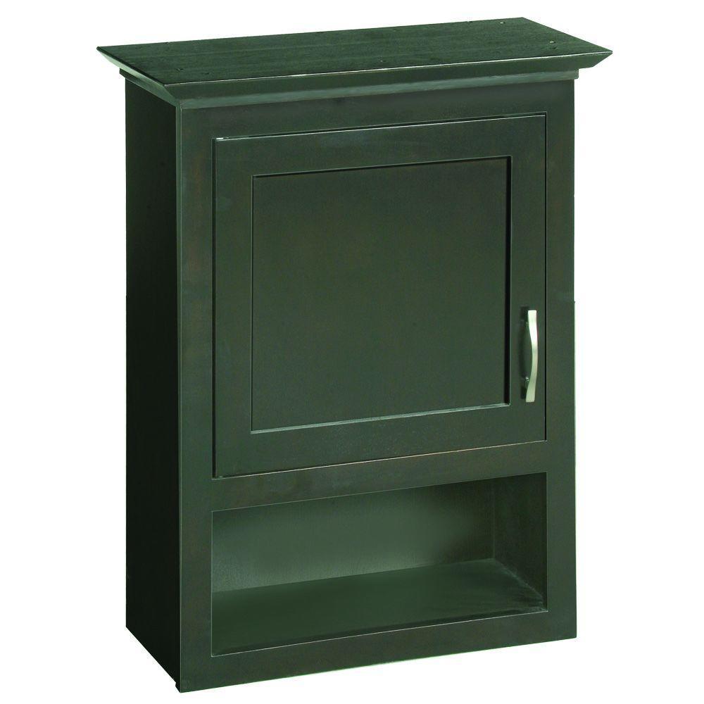 Home Decorators Collection Zen 14 in W Bathroom Storage Wall Cabinet in EspressoZEEW1431  The