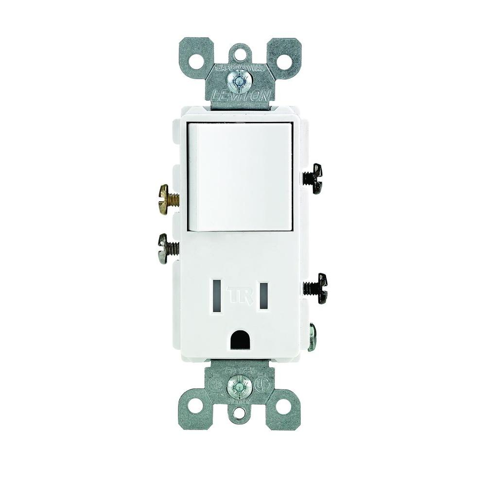 Leviton Decora 15 Amp Tamper Resistant Combo Switch And Outlet
