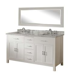 direct vanity sink hutton spa 63 in double vanity in pearl white with marble vanity [ 1000 x 1000 Pixel ]