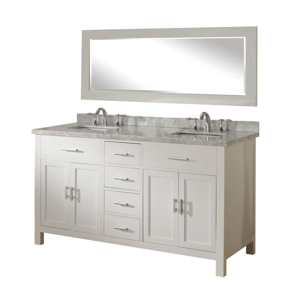 hight resolution of direct vanity sink hutton spa 63 in double vanity in pearl white with marble vanity
