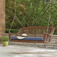 Hampton Bay Spring Haven Brown 2-Person Wicker Outdoor ...