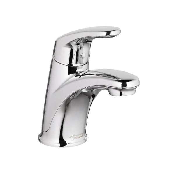 single hole bathroom faucet with pop up drain American Standard Colony Pro Single Hole Single-Handle