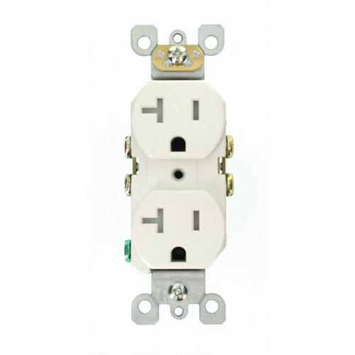 small resolution of leviton 20 amp residential grade self grounding tamper resistant duplex outlet white