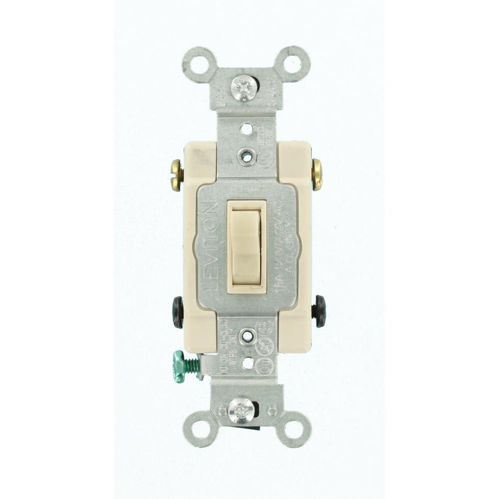 medium resolution of leviton 15 amp single pole toggle framed 4 way ac switch lightleviton 15 amp single