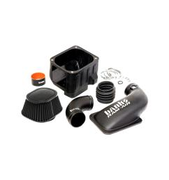 ram air intake system with dry filter for 2011 2012 chevrolet gmc 6 6 l duramax diesel [ 1000 x 1000 Pixel ]
