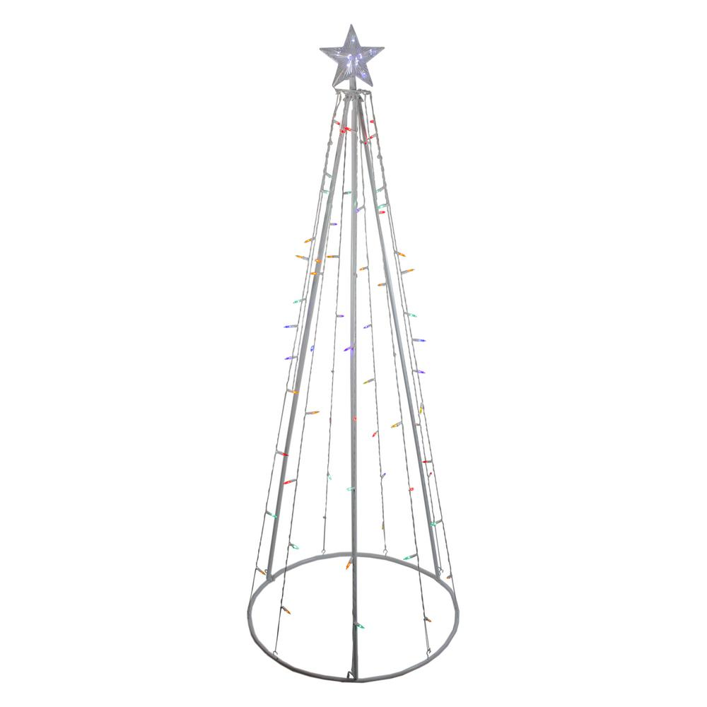 Northlight 6 ft. Multi-Color LED Lighted Outdoor Christmas