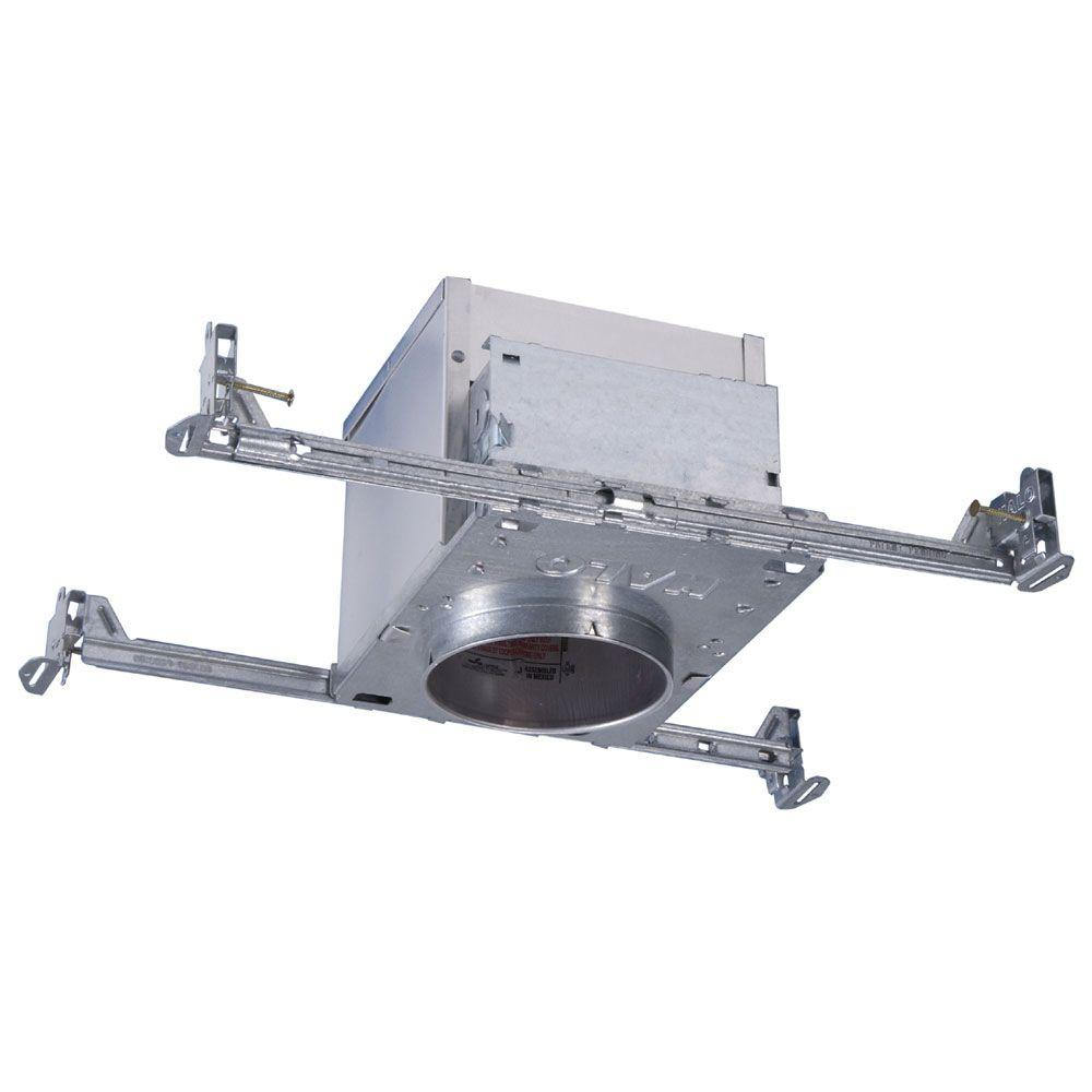medium resolution of aluminum recessed lighting housing for new construction ceiling insulation contact