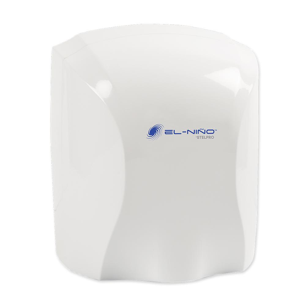 hight resolution of el nino 1450 watt 120 volt white auto start electric hand dryer