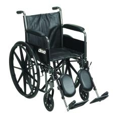 Drive Wheel Chair Alabama Lawn Boat Silver Sport 2 Wheelchair Detachable Full Arms Elevating Leg Rests And 18 In Seat