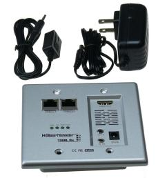 ntw hdbase t hdmi and networking wall plate extender with cat5e 6 ready [ 1000 x 1000 Pixel ]