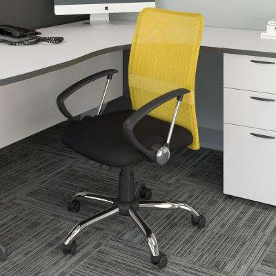 yellow office chair wheelchair exercises chairs home furniture the depot workspace with contoured