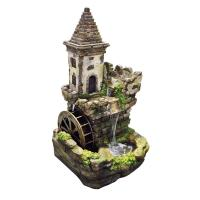 Alpine 35 in. Castle Tiered Fountain-USA1164 - The Home Depot