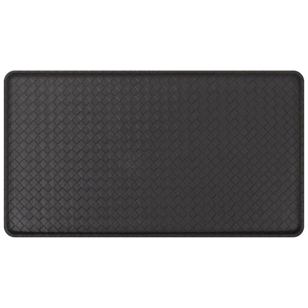 kitchen mats gel kitchens for rent gelpro classic basketweave black 20 in x 36 comfort mat