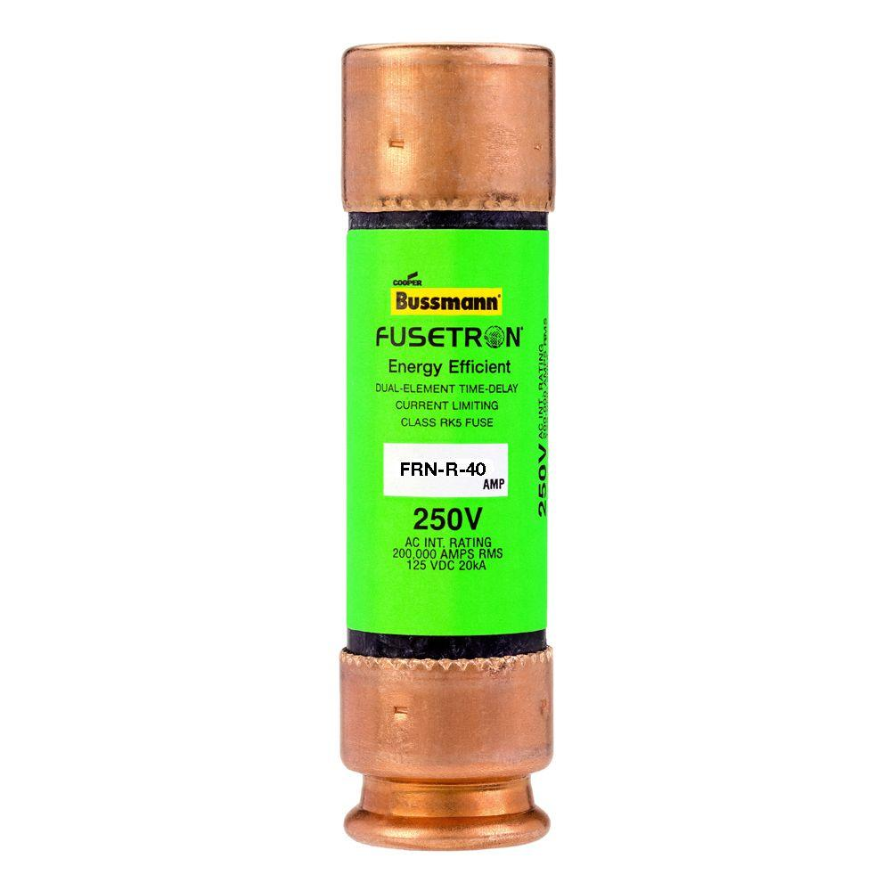 hight resolution of cooper bussmann frn series brass 40 amp 250 volt fusetron time delay fuse