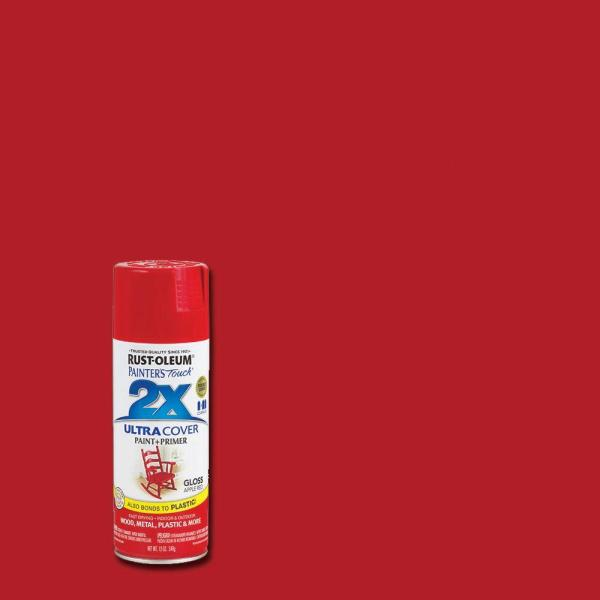 Rust-oleum Painter' Touch 2x 12 Oz. Gloss Apple Red General Purpose Spray Paint-249124