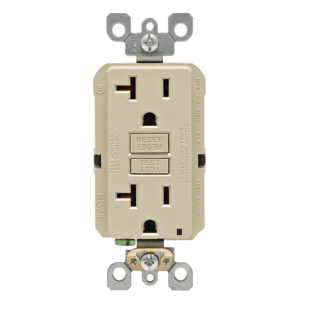 hight resolution of leviton 20 amp self test smartlockpro slim duplex gfci outlet white r12 gfnt2 0rw the home depot