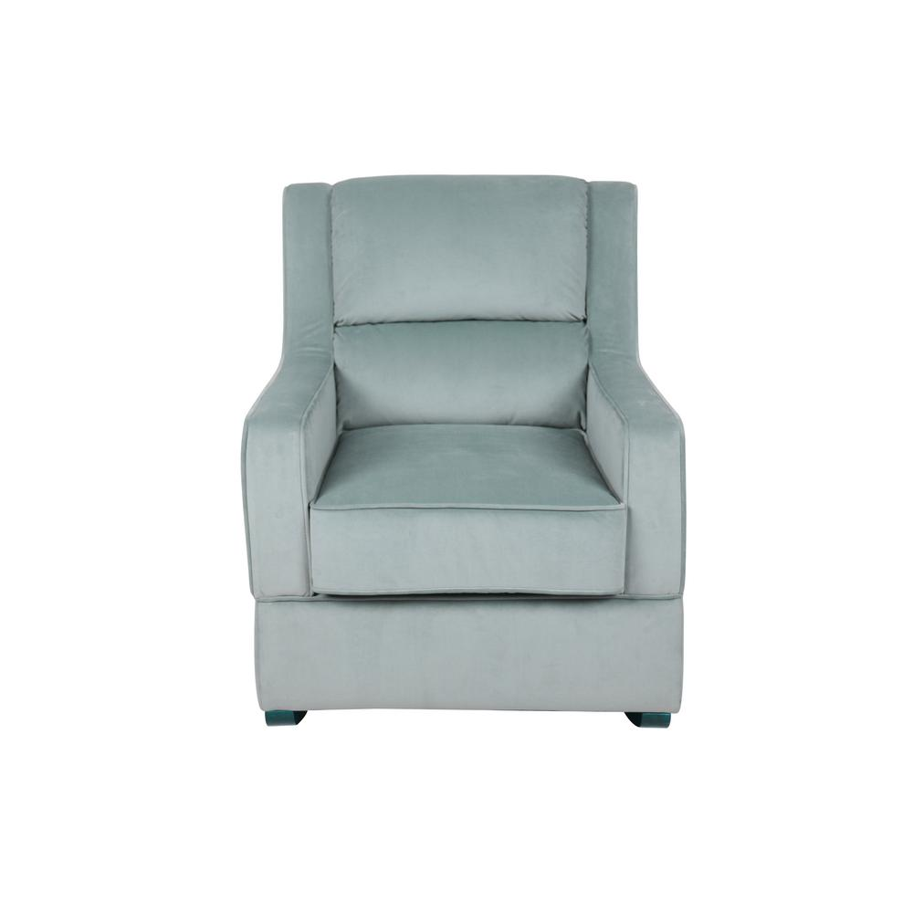 rocking chair for nursery best office chairs under 200 lifestyle solutions riley in light blue microfiber upholstery