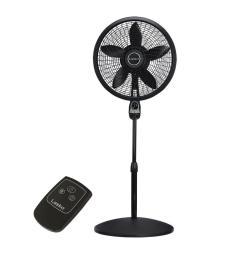 cyclone pedestal fan in black with remote control [ 1000 x 1000 Pixel ]