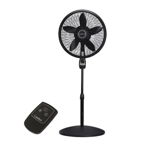 small resolution of cyclone pedestal fan in black with remote control
