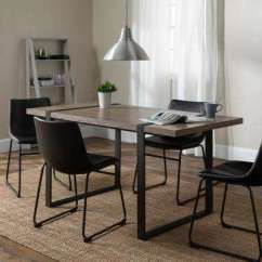 Black Kitchen Table And Chairs With Apron Sink Dining Room Sets Furniture The Urban
