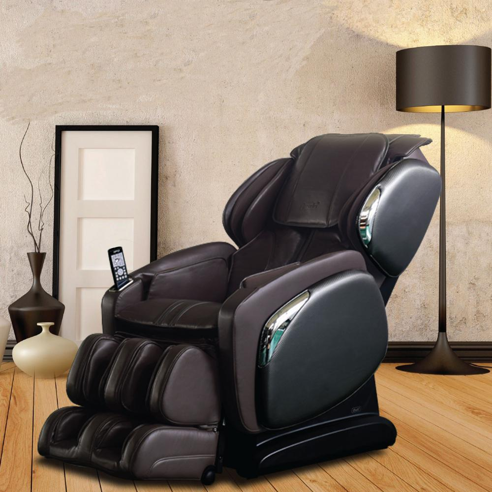 recliner massage chair pool lift titan osaki brown faux leather reclining os 4000ls
