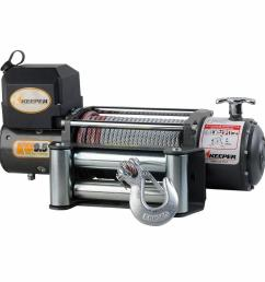 12 volt dc electric winch single line pull with wireless remote [ 1000 x 1000 Pixel ]