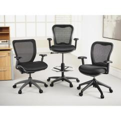 Mesh Drafting Chair Tall Directors Chairs Lorell Black Stool Llr25981 The Home Depot