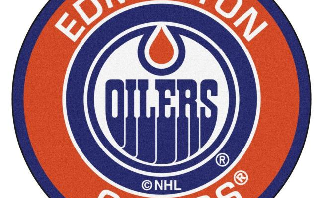 Fanmats Nhl Edmonton Oilers Orange 2 Ft X 2 Ft Round