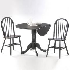 Windsor Kitchen Chairs Old Wooden Folding Rocking Chair International Concepts Black Wood Spindle Back Dining
