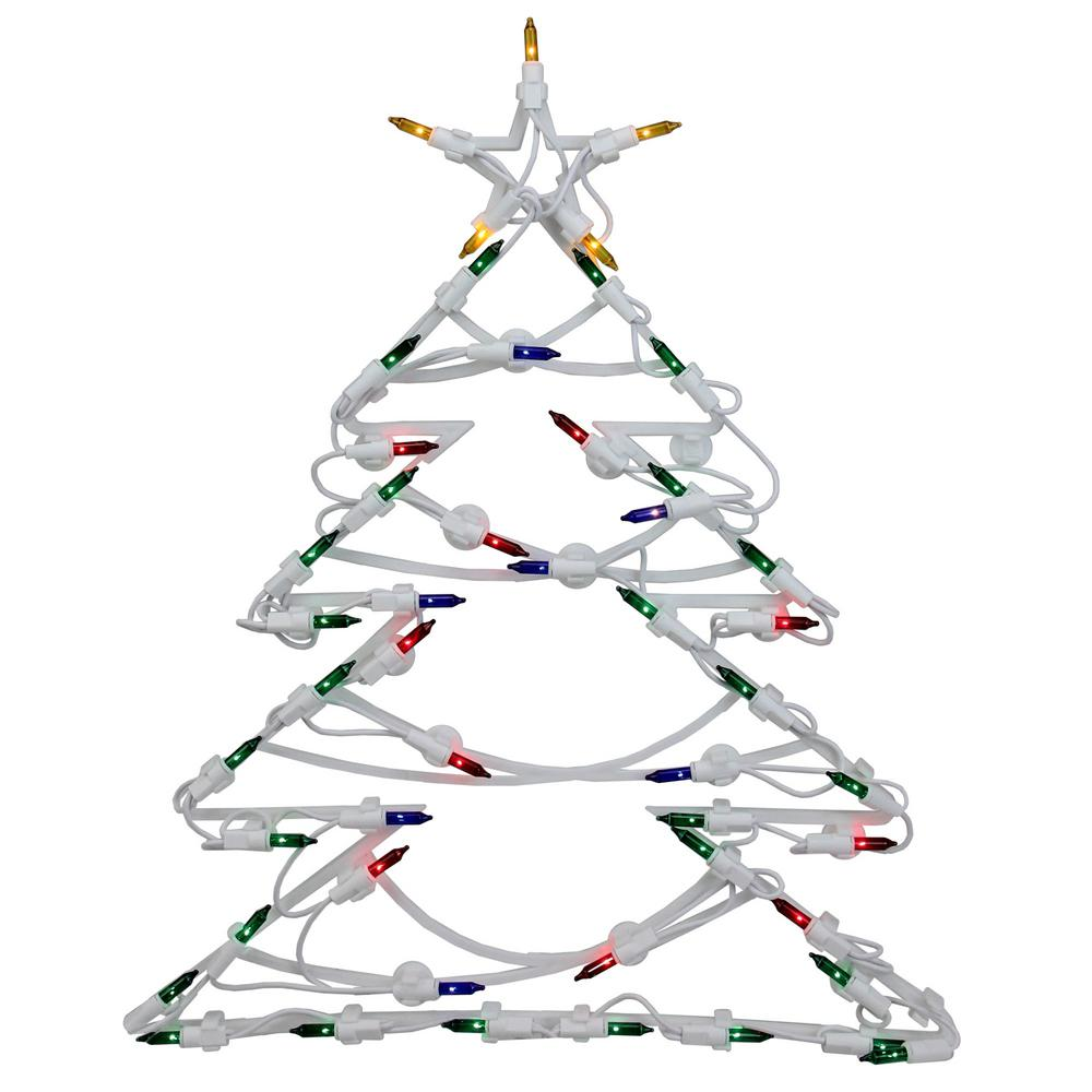 Northlight 18 in. Christmas Lighted Tree Window Silhouette