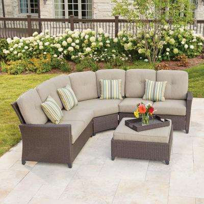 outdoor chair and ottoman cedar adirondack chairs hampton bay patio conversation sets lounge tacana