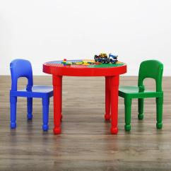 Plastic Kids Table And Chairs Dental Chair Parts Description Tot Tutors Primary 2 In 1 Lego Compatible Activity Set Ct599 The Home Depot
