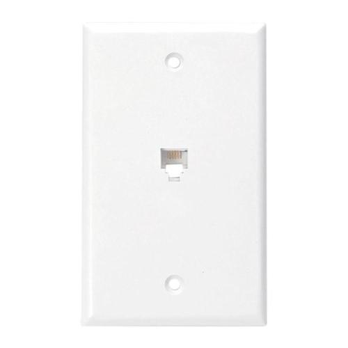 small resolution of leviton 6p4c type 625b4 wall phone jack white