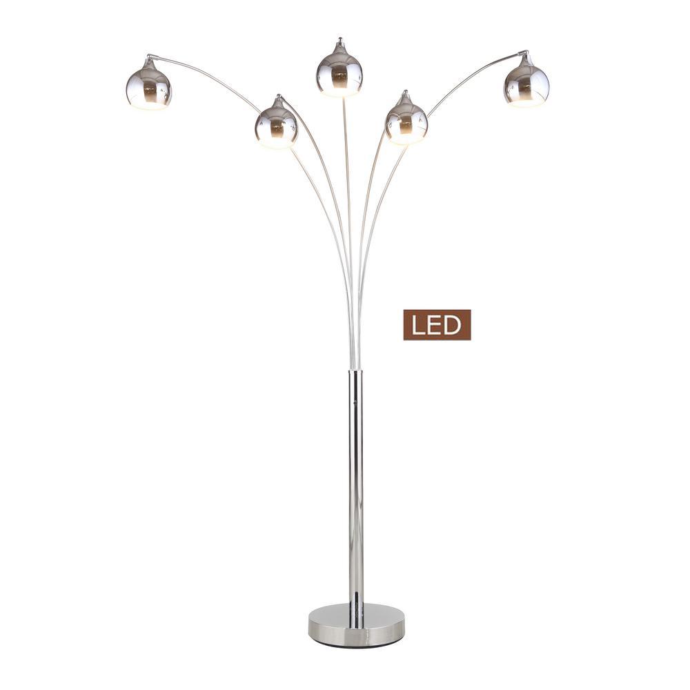 60 in light Wood Grain Indoor Sunlight Floor Lamp